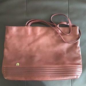 Etianne Aigner | vintage leather tote bag